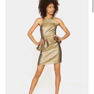 BNWT Halston Heritage Peplum Jacquard Dress